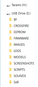 Example of the files on an OpenTX SD Card