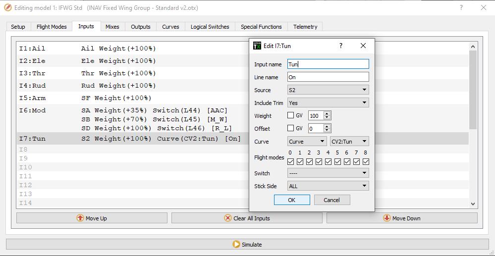 IFWG Standard OpenTX model v2 - Schlesinger mod - Pot S2