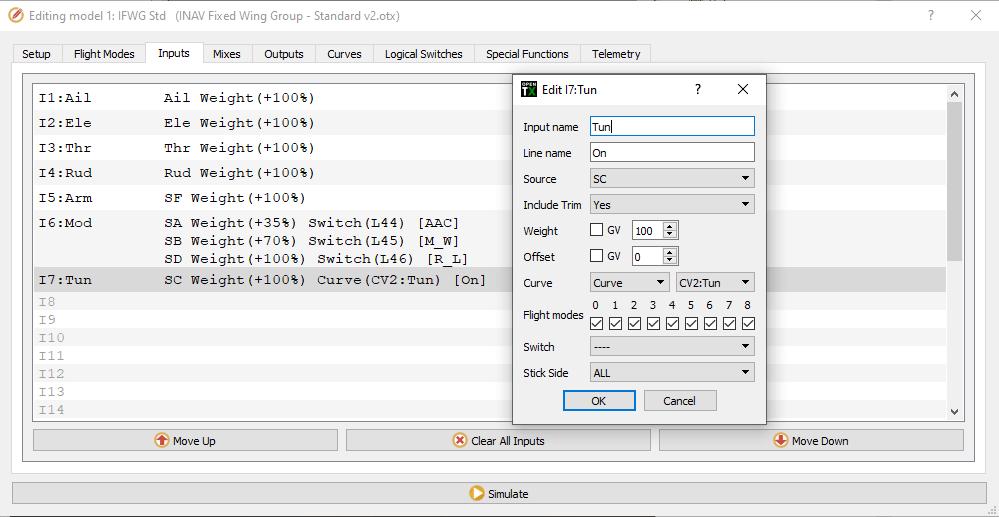 IFWG Standard OpenTX model v2 - Schlesinger mod - Switch SC