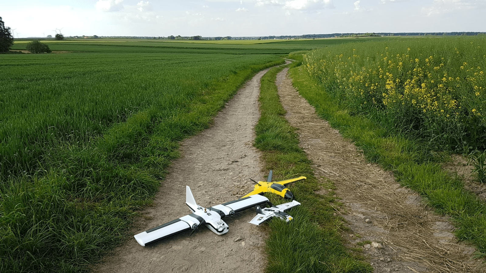 Some RC planes on a track